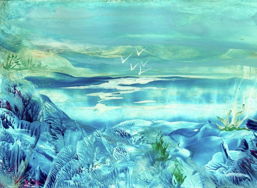 Lake Painting - Icy Lake by Angelina Whittaker Cook