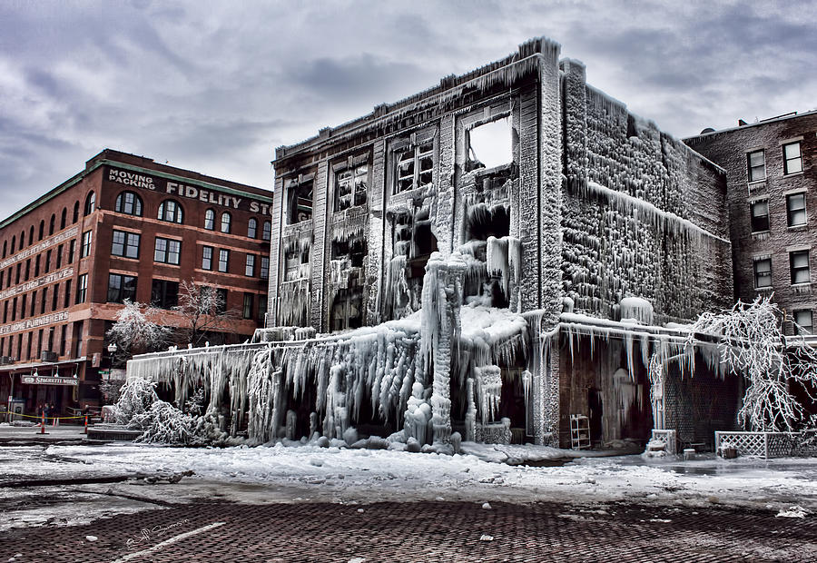 Icy Photograph - Icy Remains - After The Fire by Jeff Swanson
