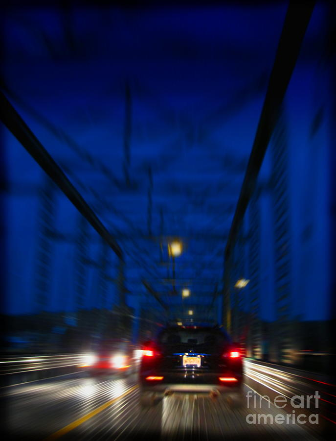Bridge Photograph - Id Drive All Night by Colleen Kammerer