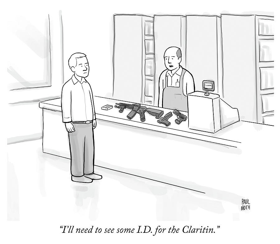 ID for the Claritin Drawing by Paul Noth
