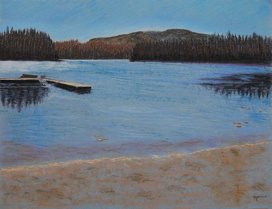 Lake View Pastel - Idabel Lake by Marina Garrison