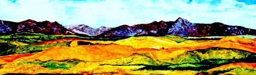 Paper Mache Mixed Media - Idaho Fields by Kimberly Simon