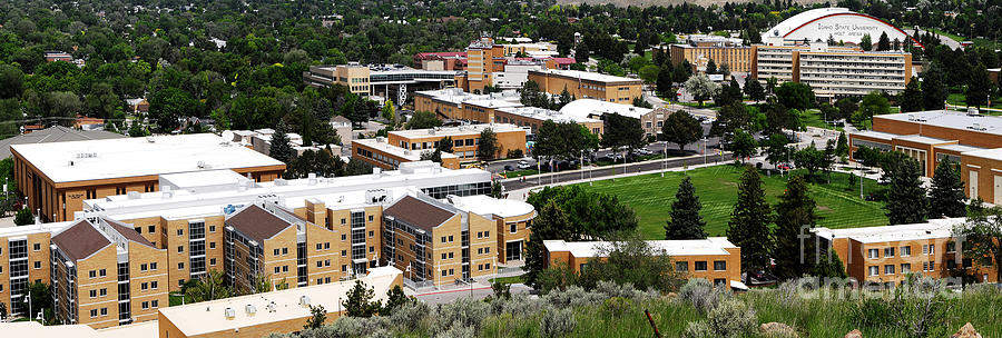 Academic Photograph - Idaho State University Upper Campus With Holt Arena by Lane Erickson