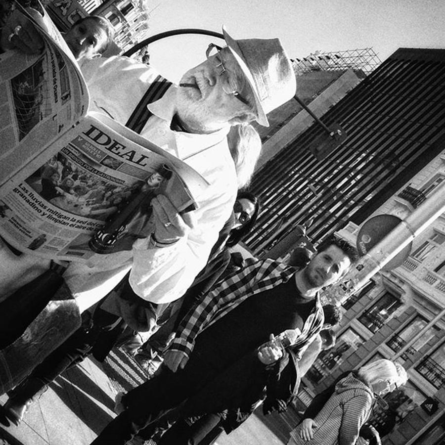 Man Photograph - Ideal  #man #newspaper #people by Rafa Rivas