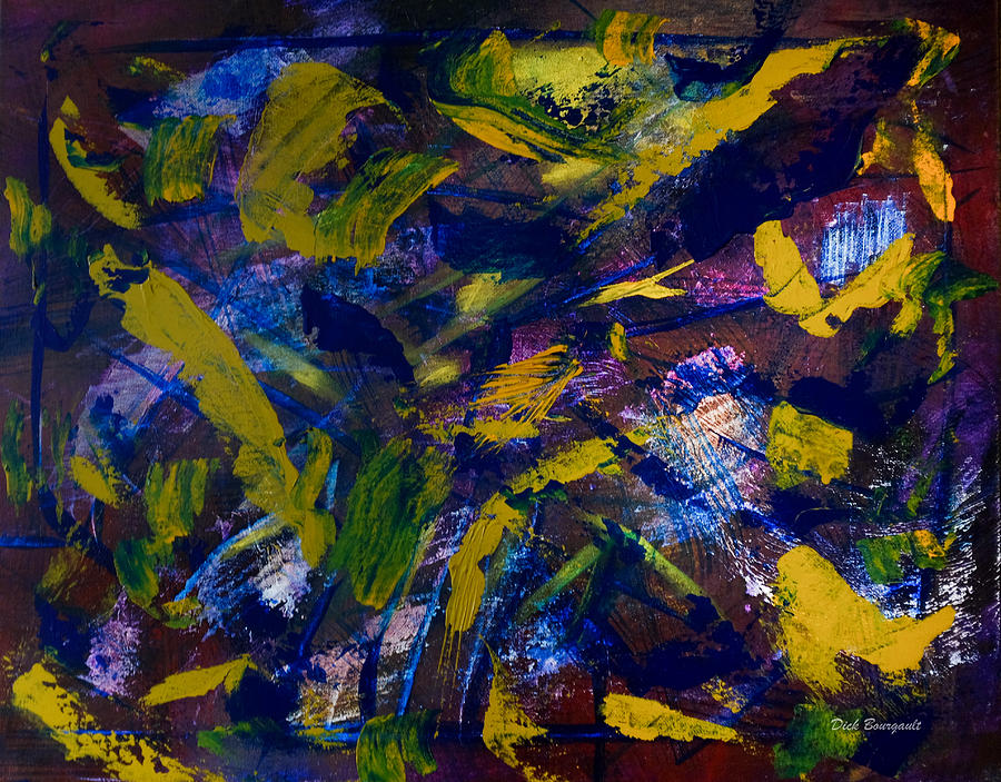 Abstract Painting - Identity Theft by Dick Bourgault