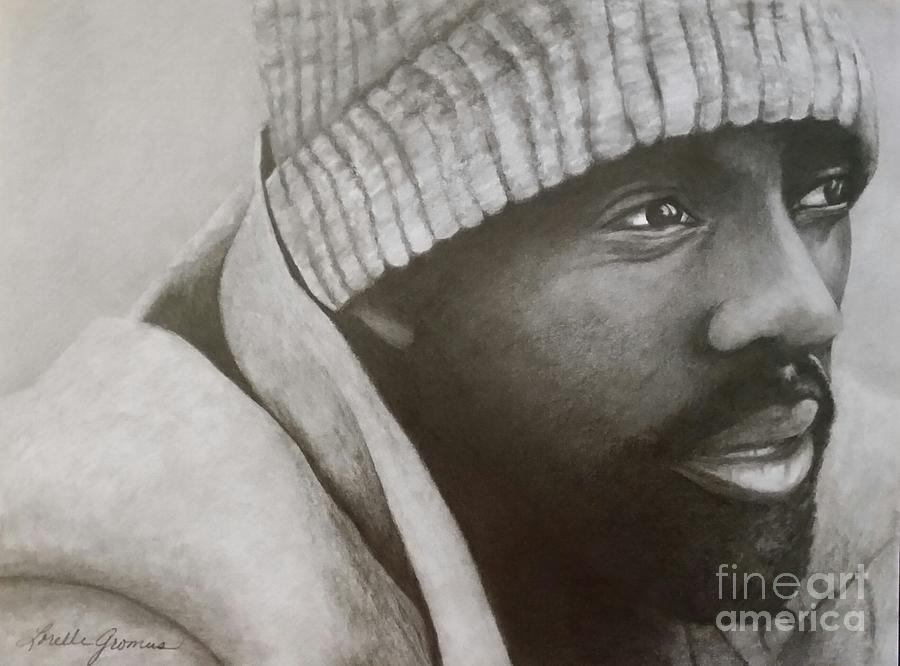 Actor Drawing - Idris Elba by Lorelle Gromus