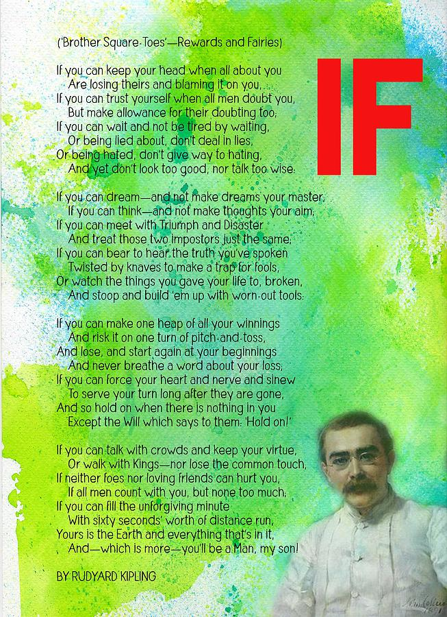 If By Rudyard Kipling V1 Painting