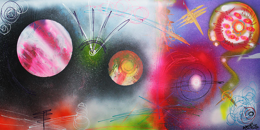 Abstract Painting - If I Were A Galaxy by Laura Barbosa
