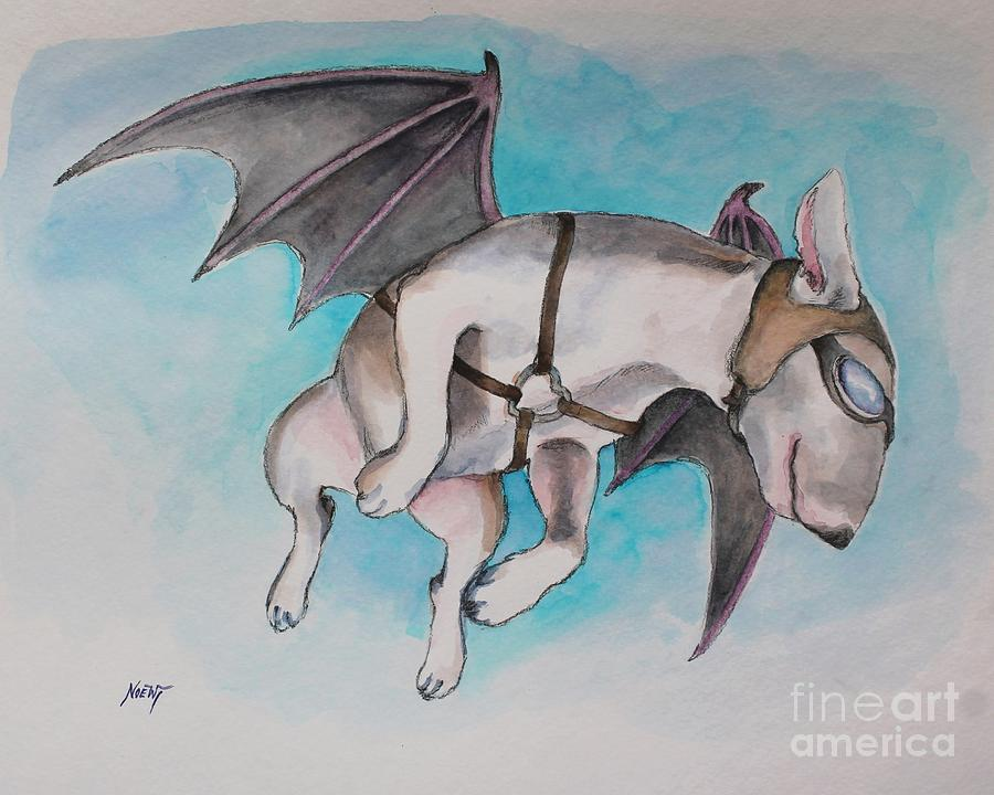 Ebt Painting - If Pigs Could Fly by Jindra Noewi