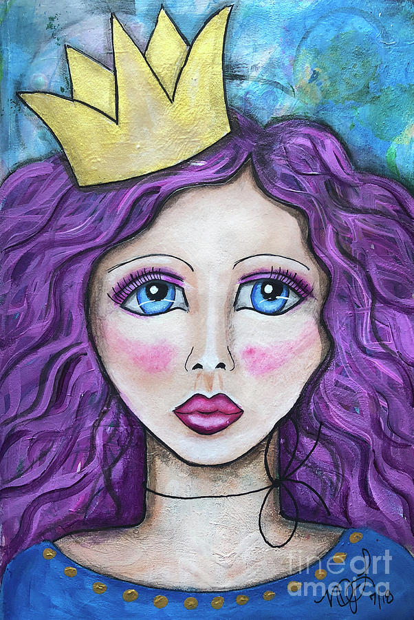 Princess Painting - If The Crown Fits by Nadine Larder