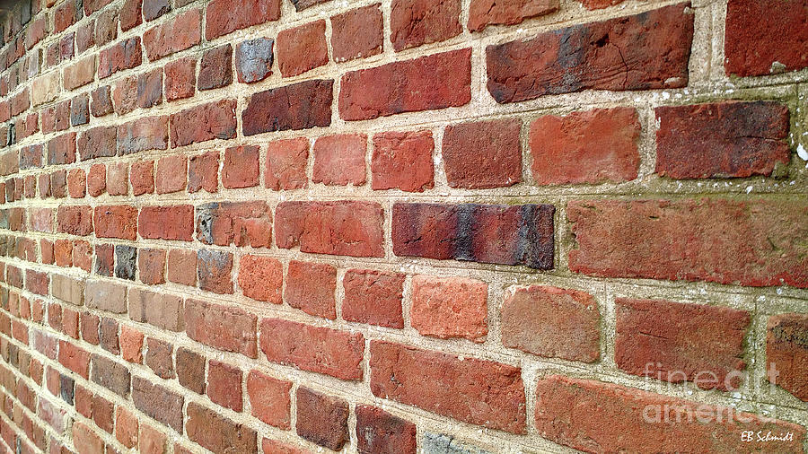Brick Wall Photograph - If Walls Could Talk by E B Schmidt