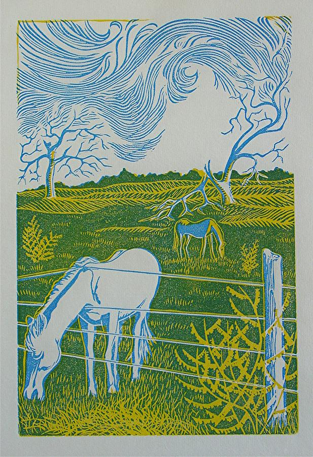 Horse Drawing - If Wishes Were Horses by Lorie Spiegel
