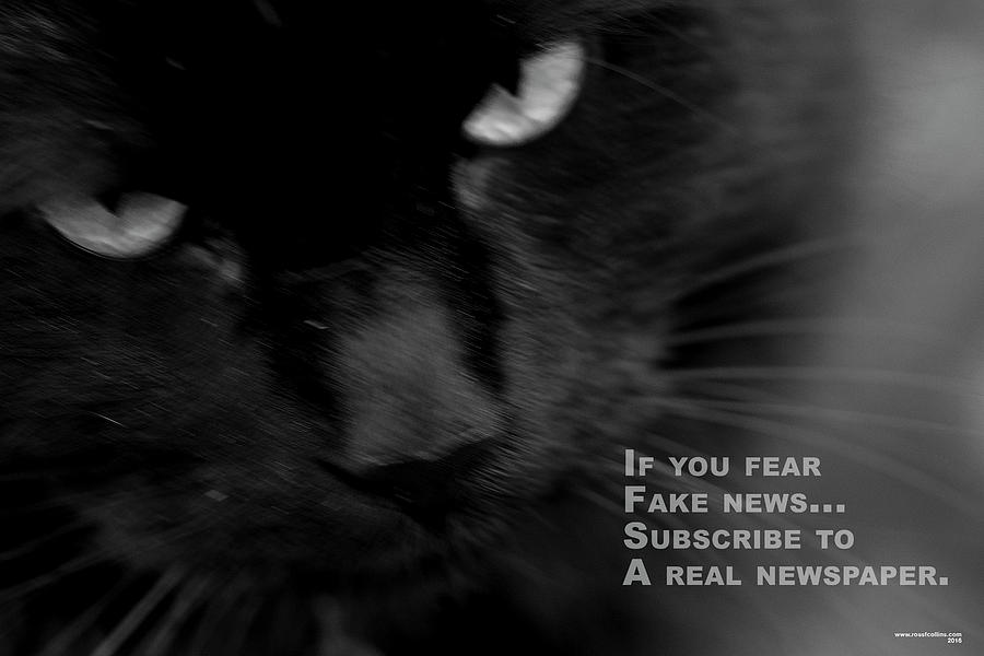 Black And White Photograph - If You Fear Fake News. by Ross F Collins