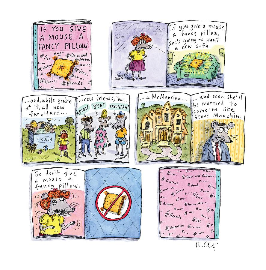 If You Give A Mouse A Fancy Pillow Painting by Roz Chast