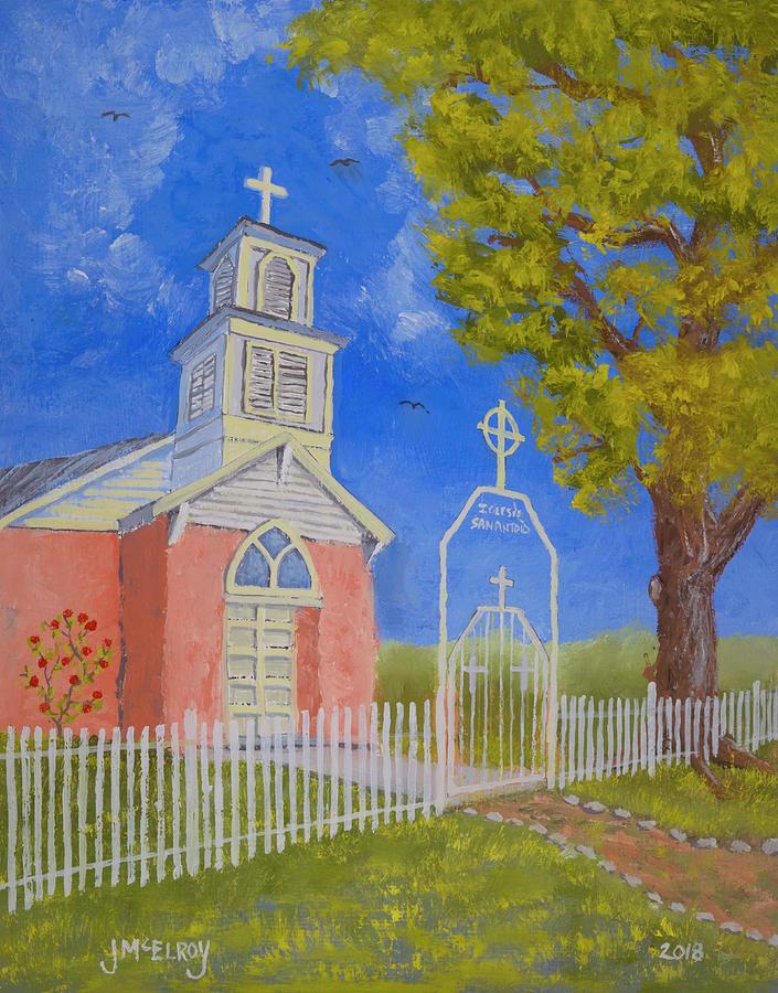 Tiffany Painting - Iglesia De San Antonio by Jerry McElroy