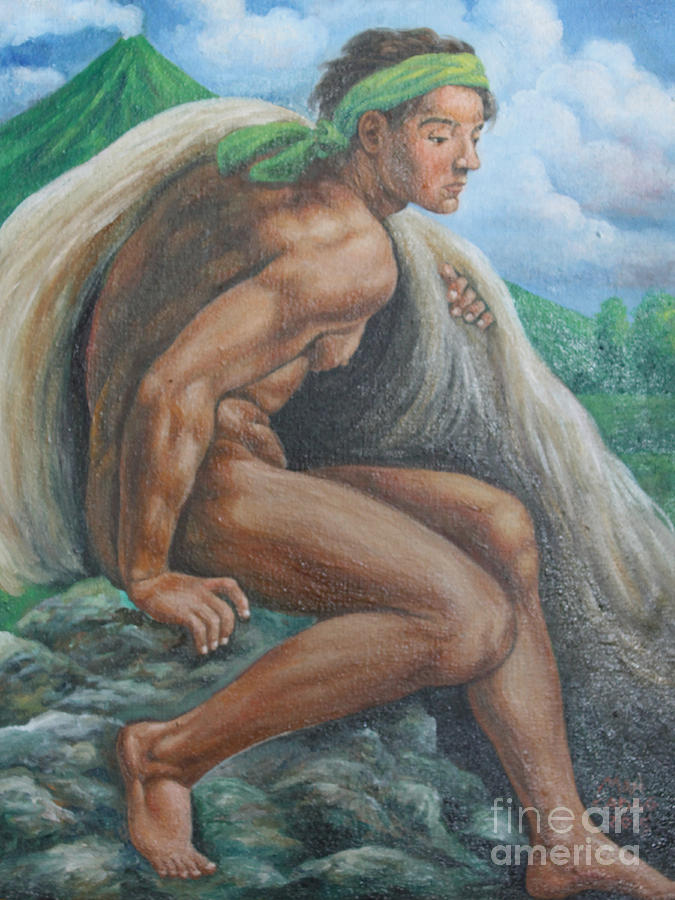 Mayon Volcano Painting - Ignudo In Bicol by Manuel Cadag