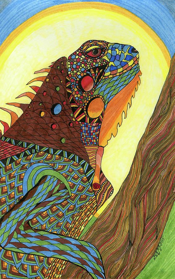 Iguana by Barbara McConoughey