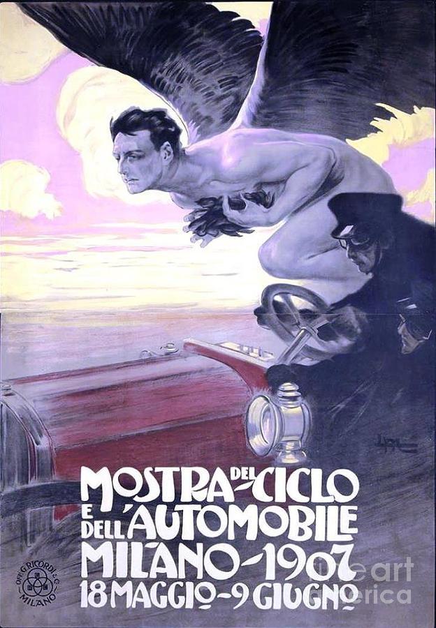 Mostra Del Ciiclo E Dell Automobile Painting
