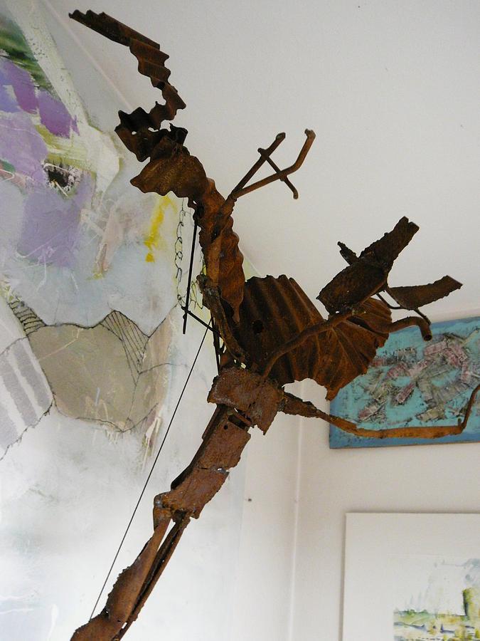 Iron Sculpture - Ikarus by Reiner Poser