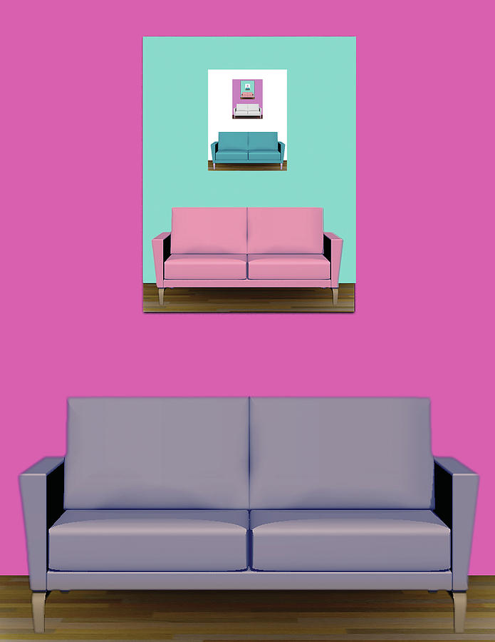 Ikea Digital Art - IKEA Room Couched by Poster Book