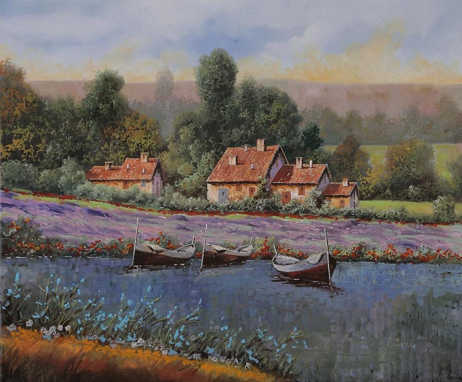 Country Painting - Il Borgo Tra Le Lavande by Guido Borelli