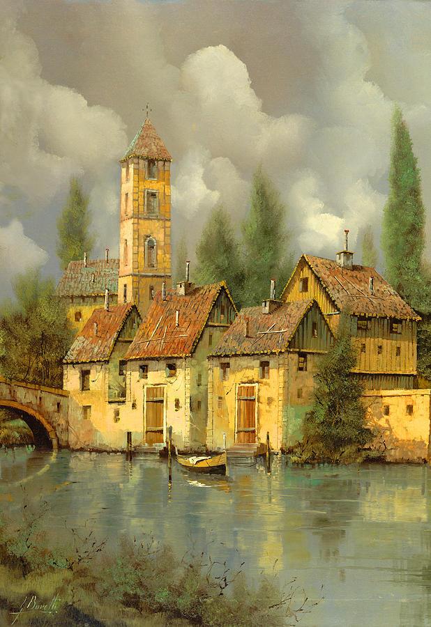Il Campanile Di Villa Giusti Painting