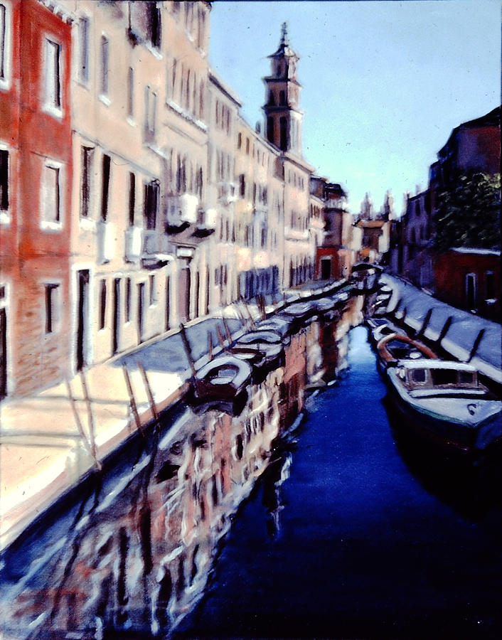 Il Canale Tranquillo Painting by David Zimmerman