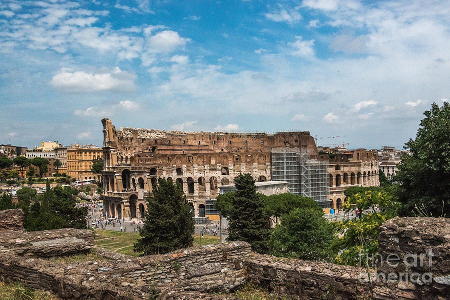 Colosseum Photograph - il Colosseo by Joseph Yarbrough