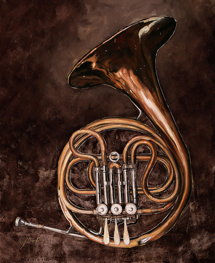 French Horn Painting - Il Corno Francese by Guido Borelli