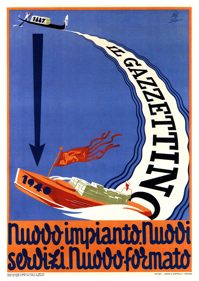 Il Gazzettino - Italian Newspaper - Vintage Advertising Poster Mixed Media