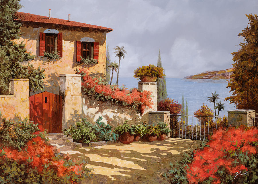 Red House Painting - Il Giardino Rosso by Guido Borelli