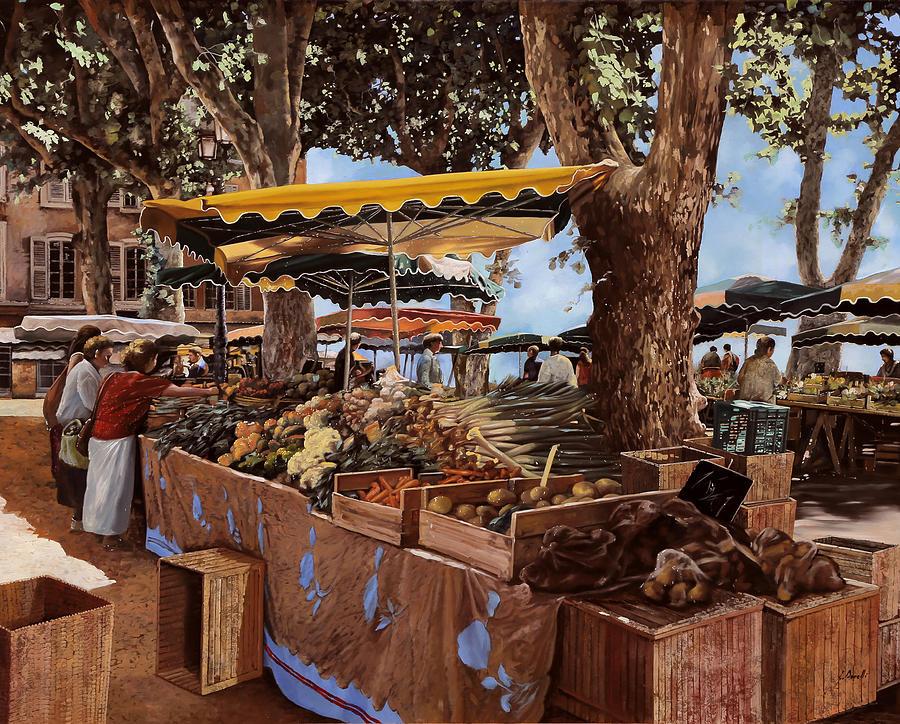 St Paul Painting - il mercato di St Paul by Guido Borelli
