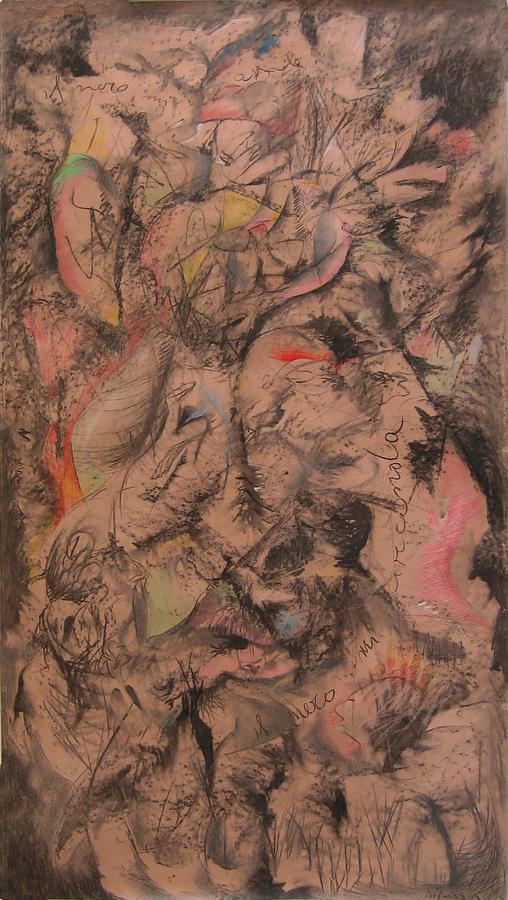 Il Nero Mi Circonda Painting by Adolfo De Turris