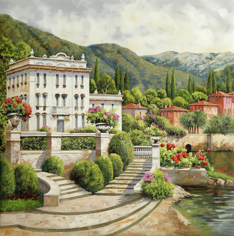 Palace Painting - Il Palazzo Sul Lago by Guido Borelli