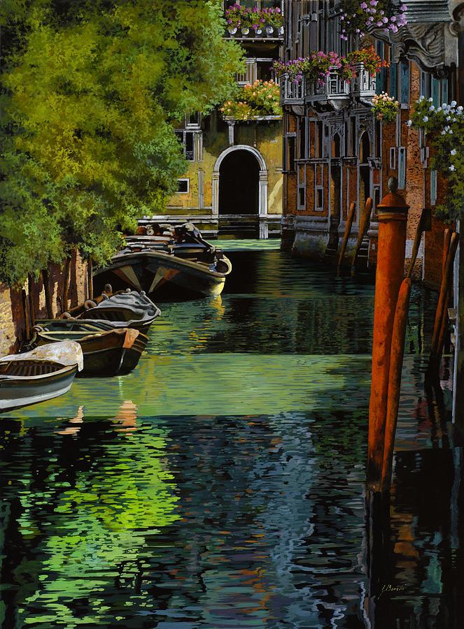Venice Painting - il palo rosso a Venezia by Guido Borelli