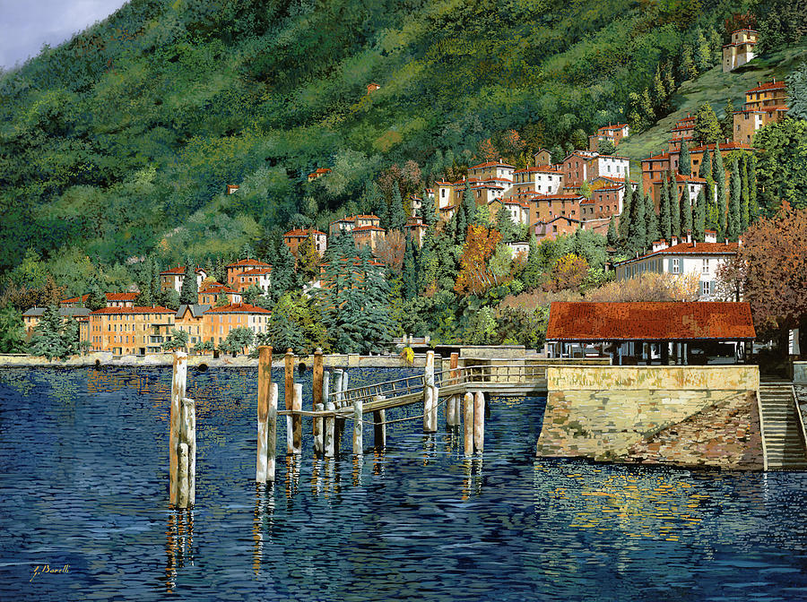 il porto di Bellano Painting