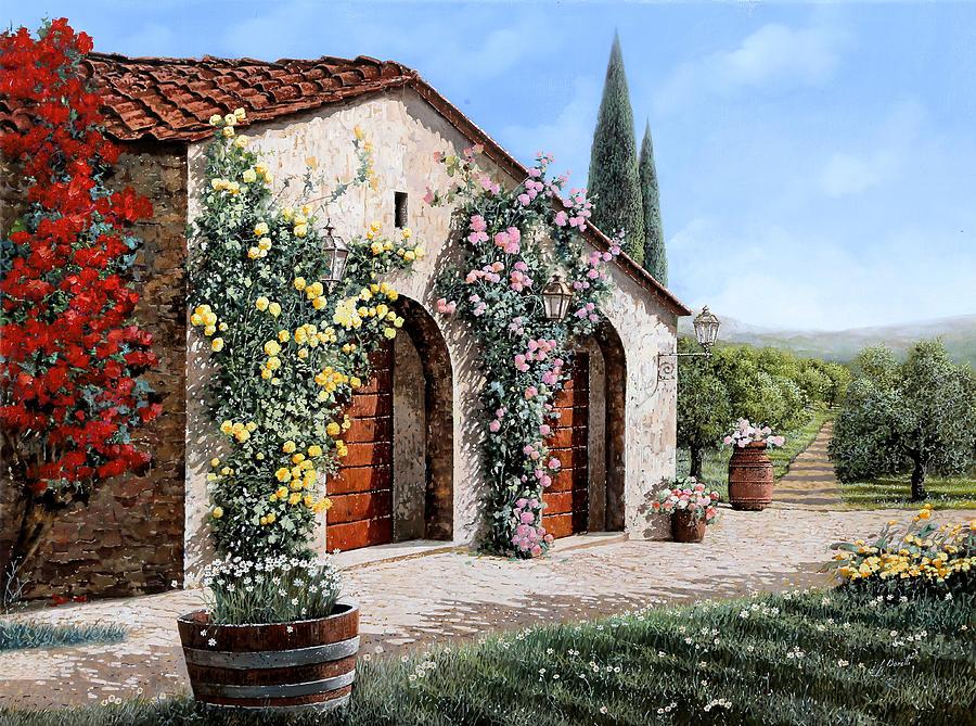 il ritiro in Toscana Painting