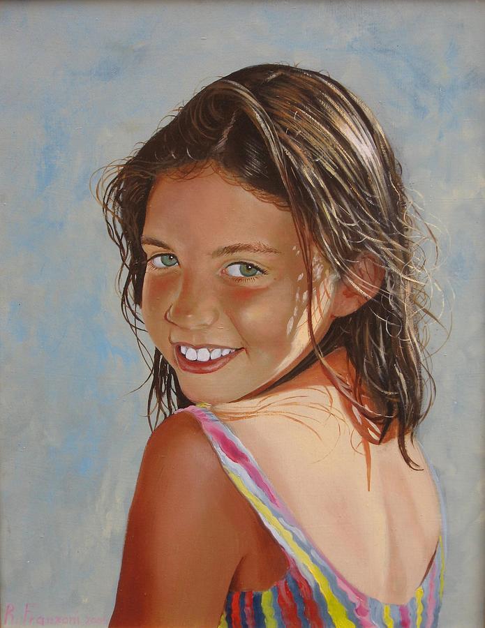 Portrait Painting - Il sorriso di Laura by Riccardo Franzoni