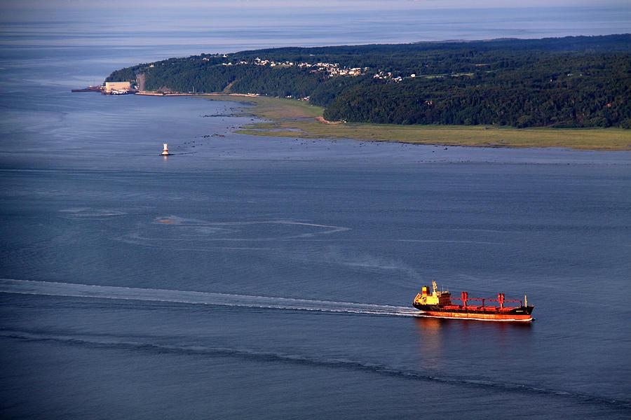 Boat Photograph - Ile-aux-coudres by Michel Thibault