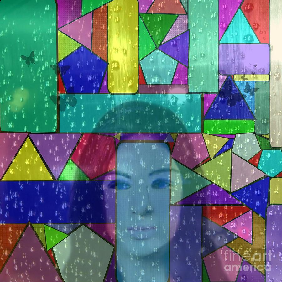 Stained Glass Digital Art - Ill Always Remember by Diamante Lavendar