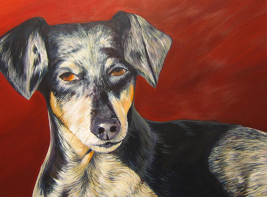 Dog Painting - Ill Be With You Momentarily by Hunter Jay