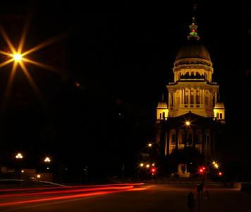 Capitol Building Photograph - Illinois State Capitol by Jim Helm
