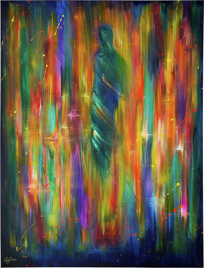 Spiritual Painting - Illuminata II by Lily Nava