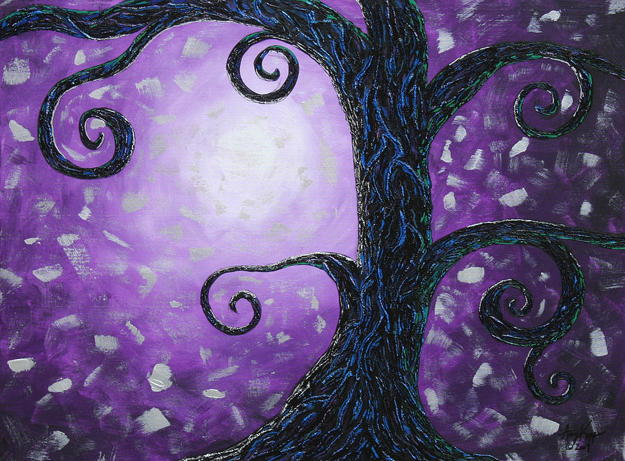Tree Painting - Illuminated by Amy Parker
