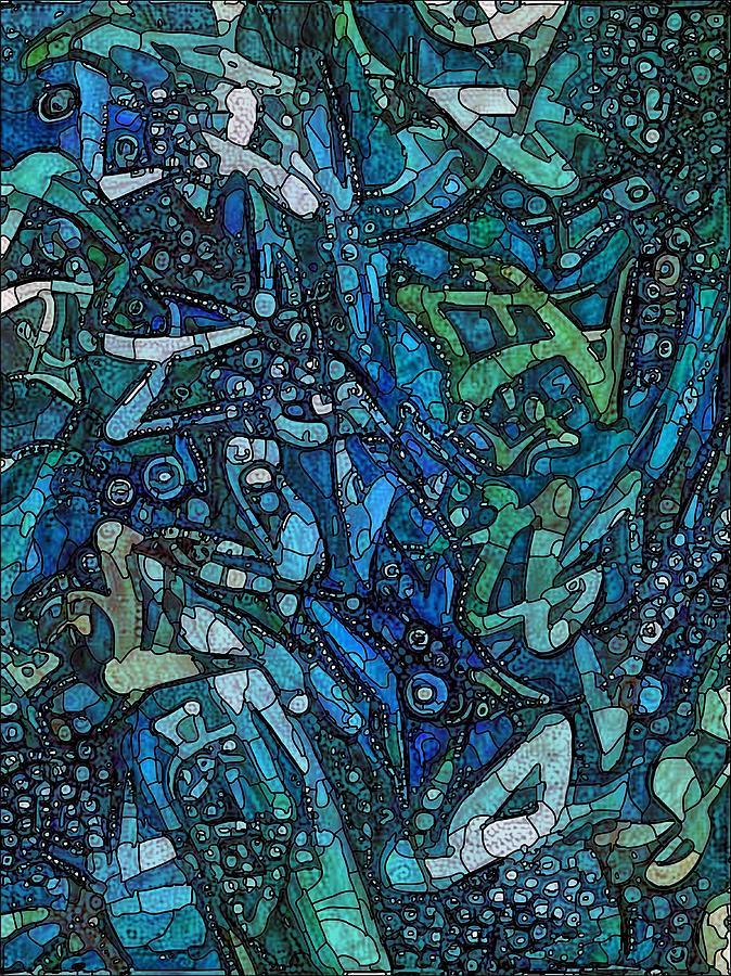 Blue Mixed Media - Illuminated Blue by Philip Openshaw