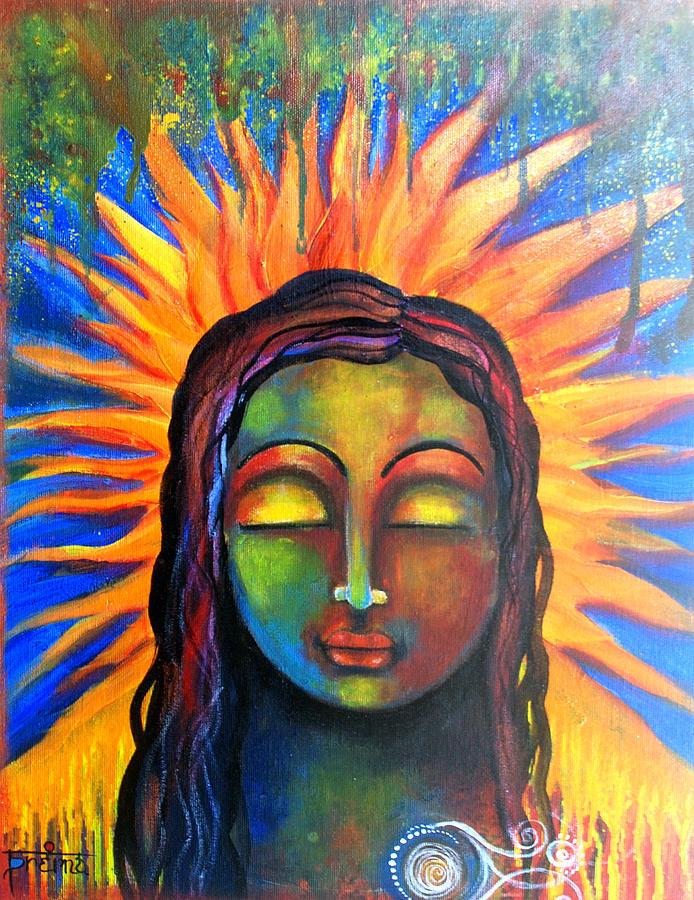 Zen Mixed Media - Illuminated By Her Own Radiant Self by Prerna Poojara
