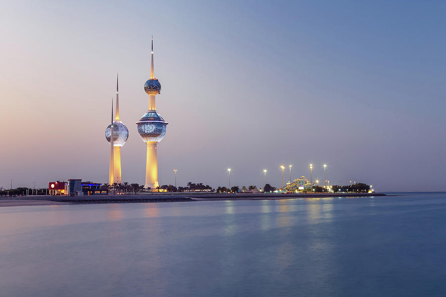 Illuminated Towers Photograph