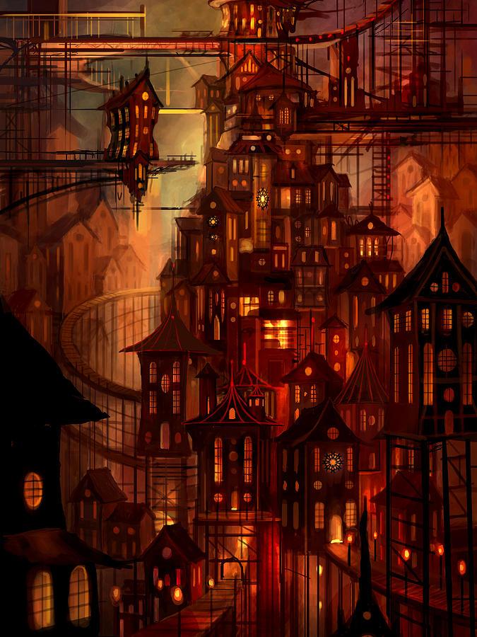 Surreal Painting - Illuminations by Philip Straub