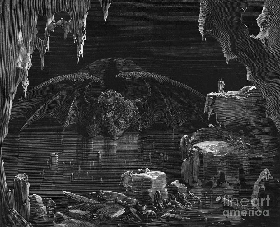 Dor� Drawing - Illustration from The Divine Comedy by Gustave Dore