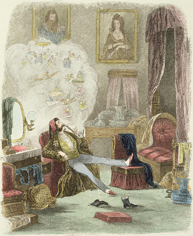 Theo Drawing - Illustration From Visitation Of A London Exquisite To His Maiden Aunts In The Country by Theo